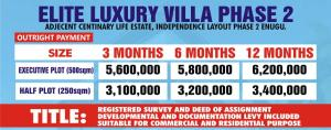 Land for sale INDEPENDENCE LAYOUT PHASE 2 ENUGU Enugu Enugu