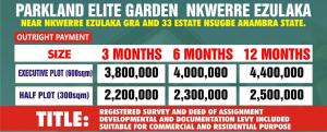 Land for sale NKWELLE EZUNAKA GRA Oyi Anambra