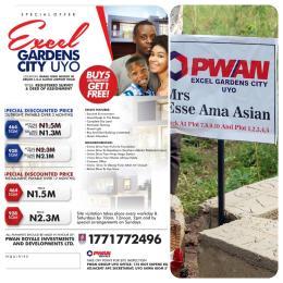 Land for sale Ibiaku Obio, Obodo Uruan Akwa Ibom