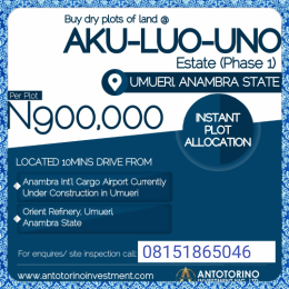 Residential Land Land for sale Anambra East Anambra