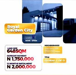 Land for rent Mowe Obafemi Owode Ogun