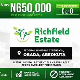Land for sale Federal Housing Extension obada Abeokuta Adatan Abeokuta Ogun