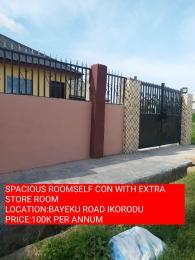 1 bedroom mini flat  Studio Apartment Flat / Apartment for rent ELEHA MUIBI STREET Igbogbo Ikorodu Lagos