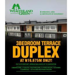 3 bedroom Terraced Duplex House for sale Oribanwa Lekki peninsula AJah Lagos Abraham adesanya estate Ajah Lagos