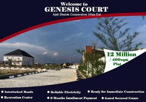 Serviced Residential Land Land for sale Badore area of Ajah, just beside the popular Cooperatives Villas Estate; and 15 minutes drive to the Ajah Flyover Bridge (Ajah Bus Stop). Badore Ajah Lagos