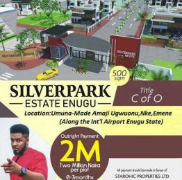 Residential Land Land for sale Along the int'l Airport,  Enugu State. Enugu Enugu