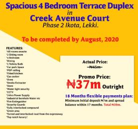4 bedroom Terraced Duplex House for sale Ikota lekki Lekki Lagos