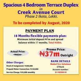 4 bedroom Terraced Duplex House for sale After 2nd Toll Gate Ikota Ikota Lekki Lagos
