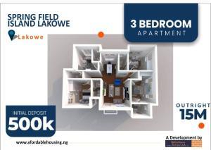 3 bedroom Shared Apartment Flat / Apartment for sale 2 Minutes drive from Lakowe Golf Resort  Lakowe Ajah Lagos