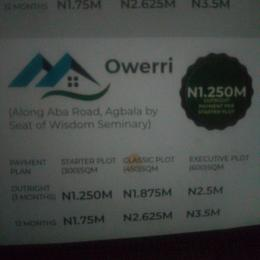 Residential Land Land for sale Along Aba road, Agbala by seat of wisdom seminarye Owerri Imo