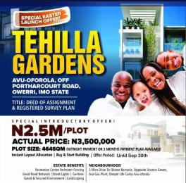 Residential Land Land for sale Avu-Oforola, Off Port Harcourt Road  Owerri Imo