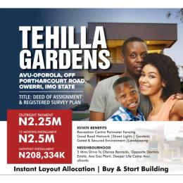 Residential Land Land for sale Owerri Imo
