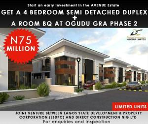 4 bedroom Semi Detached Duplex House for sale ogudu gra phase 2 Ogudu GRA Ogudu Lagos
