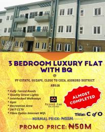 3 bedroom Shared Apartment Flat / Apartment for sale Guzape, close to coza Asokoro Abuja
