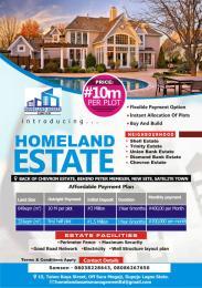 Land for sale Behind chevron estate. Satellite Town Amuwo Odofin Lagos