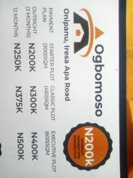 Mixed   Use Land Land for sale Onipanu, Iresa Apa Road Ogbomosho Oyo