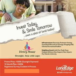 Land for sale Eleranigbe Eleranigbe Ibeju-Lekki Lagos - 0
