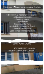 5 bedroom Terraced Duplex House for sale Abraham adesanya estate Ajah Lagos