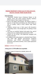 6 bedroom Detached Duplex House for sale trans amadi Trans Amadi Port Harcourt Rivers