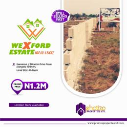 Residential Land Land for sale Itamarun,5 minute drive from dangote refinery  Eleko Ibeju-Lekki Lagos