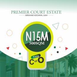 Serviced Residential Land Land for sale By Abraham Adesanya, along Ogombo Road,  Ajah,Lagos Abraham adesanya estate Ajah Lagos